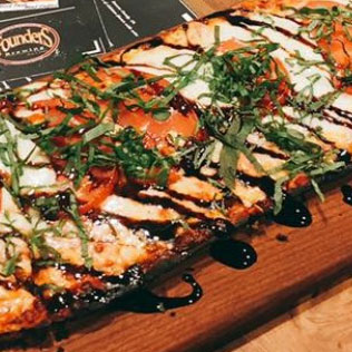 A taste of deliciously fresh ingredients on our nice homemade flatbreads.